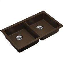 "Elkay Quartz Classic 33"" x 18-1/2"" x 5-1/2"", Undermount ADA Sink with Perfect Drain, Mocha"