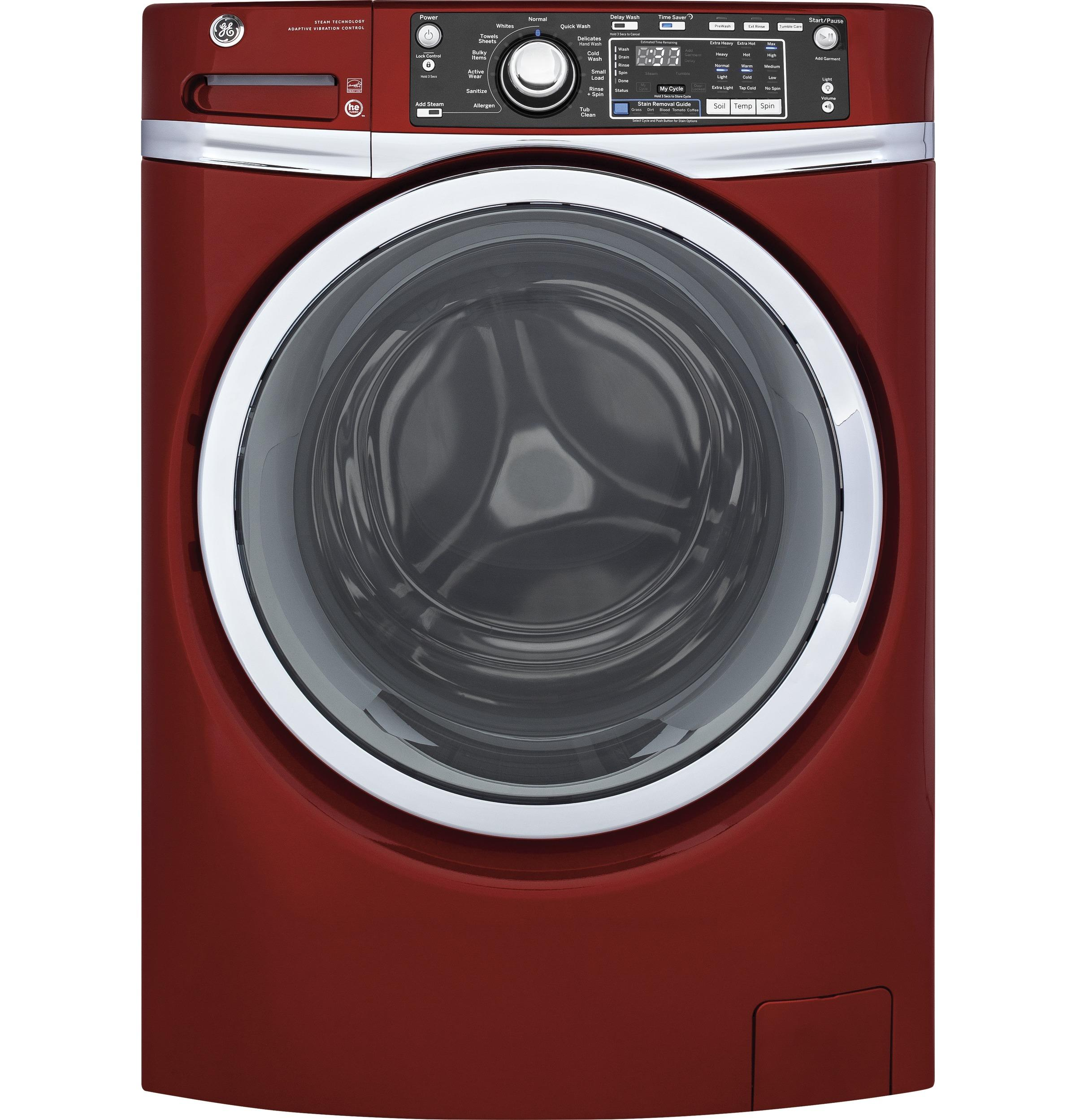 GE(R) 4.9 DOE cu. ft. Capacity Front Load ENERGY STAR(R) Washer with Steam