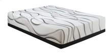 "Emerald Home Cool Jewel Mattress Midnight II 14""gel- Memory Foam Twin XL White-black W/ Grey Ribbons Es5214txlm"