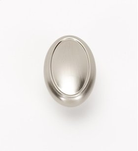 Classic Traditional Oval Knob A1560 - Satin Nickel