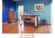 5 Drawer Kitchen Island w/ bottom shelf & casters