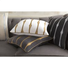 "Graphic Stripe GS-004 18"" x 18"" Pillow Shell with Down Insert"