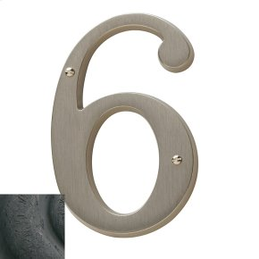Distressed Oil-Rubbed Bronze House Number - 6