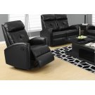 RECLINING CHAIR - SWIVEL GLIDER / BLACK BONDED LEATHER Product Image