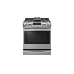 LG 鸭博娱乐s6.3 cu. ft. Gas Single Oven Slide-in Range with ProBake Convection® and EasyClean®