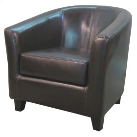 Hayden BONDED Leather Tub Chair, Brown