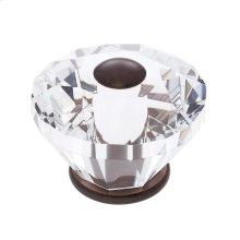 Old World Bronze 60 mm Diamond Cut Knob