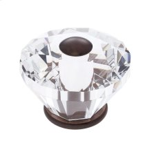 Old World Bronze 60 mm Diamond Cut Knob