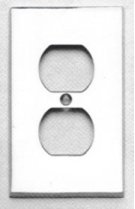 Duplex Receptacle Modern Switchplate - Solid Brass in US15 (Satin Nickel Plated, Lacquered) Product Image