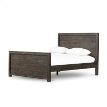 Queen Size Rustic Black Olive Finish Caminito Bed