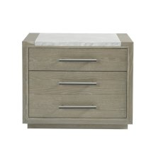 Nightstand with Stone Top