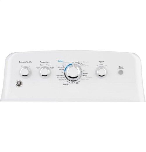 GE® 7.2 cu. ft. Capacity aluminized alloy drum Electric Dryer