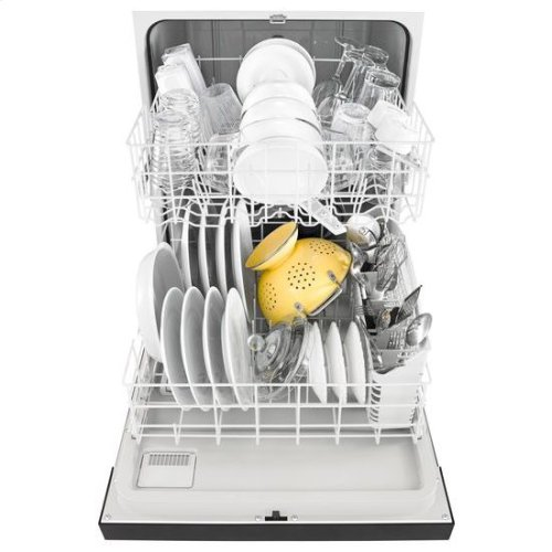Whirlpool® Heavy-Duty Dishwasher with 1-Hour Wash Cycle - Black-on-Stainless