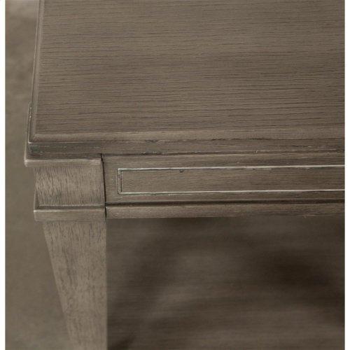 Dara Two - Rectangular Side Table - Gray Wash Finish