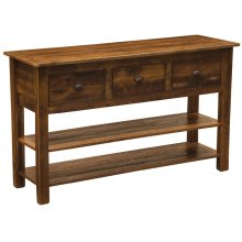 Three Drawer Console Table with two shelves