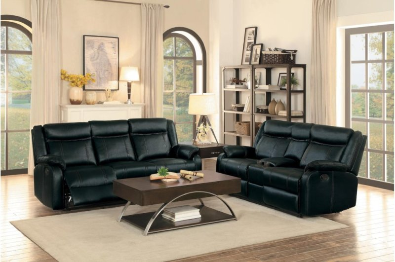 8201blk3 In By Homelegance In Statesboro Ga Double Reclining Sofa