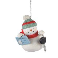 """First License"" Snowman Ornament"
