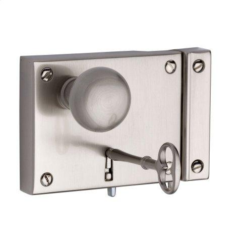 Satin Nickel 5704 Small Horizontal Rim Lock