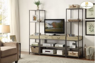 Side Pier/Bookcase with Tray