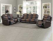 """Park Avenue Pwr-Pwr-Pwr Console Loveseat, Brown,79""""x40""""x43"""" Product Image"""