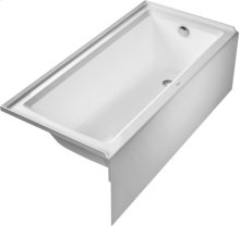 White Architec Bathtub With Panel Height 19 1/4""