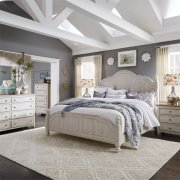 Queen Poster Bed, Dresser & Mirror, Chest, NS Product Image