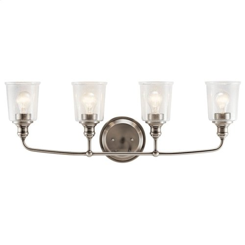 Waverly 4 Light Vanity Light Classic Pewter
