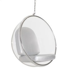 Ring Acrylic Lounge Chair in Silver