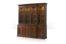 A Flame Veneered Breakfront Library Bookcase