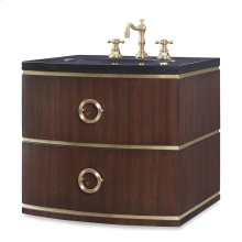 Cirque Petite Wall Sink Chest -Dk Walnut