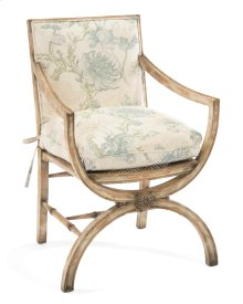Armchair with Eglomise Arabesque Back