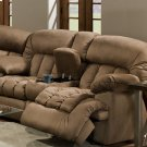 Reclining Sofa W/Table, Lights And Storage Drawer Product Image
