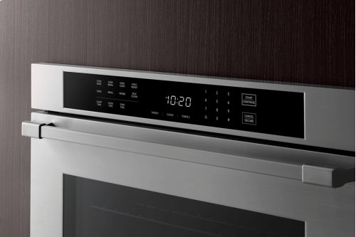 """Heritage 30"""" Single Wall Oven, Silver Stainless Steel, Pro Style handle"""