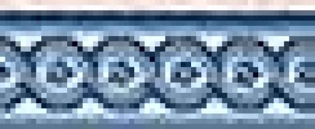 LUXE POINTE FLOWER TRELLIS LP13 IVBLU-B 7.6''