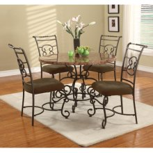 """Quarry """"Bronze"""" & """"Medium Brown"""" 5-Pc. Dining Set - Dining Table & (4) Side Chairs"""