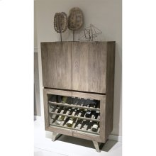 Waverly - Bar Cabinet - Sandblasted Gray Finish