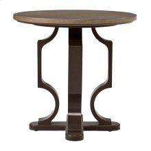 Virage Round Lamp Table in Basalt
