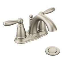 Brantford brushed nickel two-handle bathroom faucet