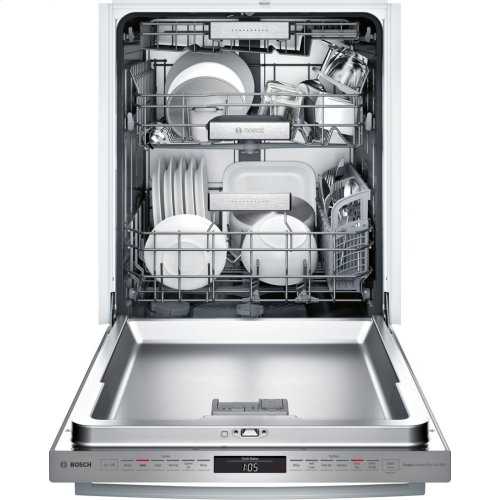 Benchmark® built-under dishwasher 24'' Stainless steel SHX88PW55N