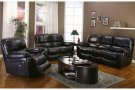Ramsey Black Cherry Leather Reclining Set, ML9050 Product Image