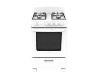 "GE 24"" 2.9 cu. ft Slide-In Standard Clean Gas Range"