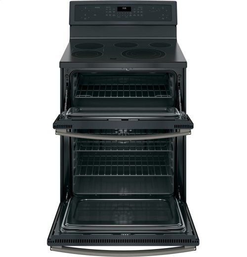 "GE Profile Series 30"" Free-Standing Electric Double Oven Convection Range"