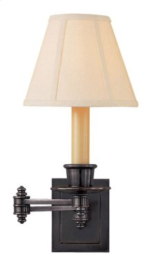 Visual Comfort S2007BZ-L Studio 12 inch 40 watt Bronze Swing-Arm Wall Light in Linen