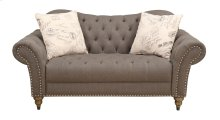 Loveseat Tobacco W/2 Accent Pillows