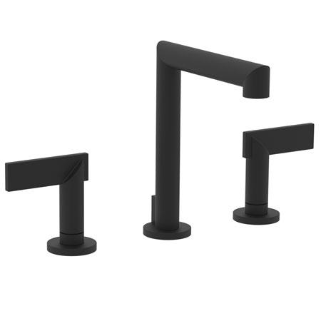 Flat-Black Widespread Lavatory Faucet