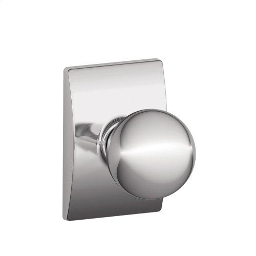 Orbit knob with Century trim Hall & Closet lock - Bright Chrome