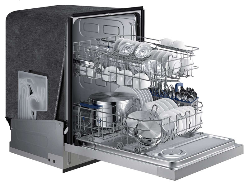 Front Control Dishwasher With Stainless Steel Interior Built In Dishwashers Dishwashers
