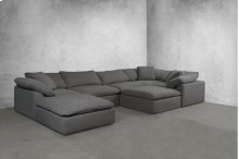 Sunset Trading Cloud Puff Slipcovered 7 Piece Modular Sectional Sofa - 391094