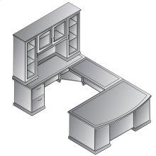 Mendocino U-shape + Glass Door Hutch 72x114