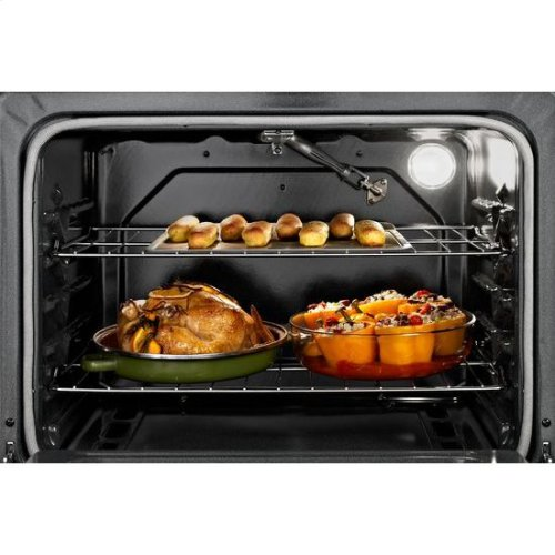 Whirlpool® 5.0 Cu. Ft. Freestanding Gas Range with AccuBake® Temperature Management System - Biscuit-on-Biscuit